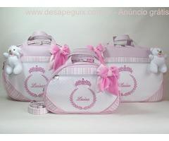 bolsas maternidade com nome do seu filho bordado