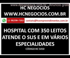 HOSPITAL COM 350 LEITOS ATENDE O SUS E VÁRIAS ESPECIALIDADES