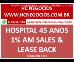 O Hospital Alvorada possui 43 anos atende a todas as grandes  operadoras