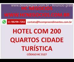 Hotel com mais de 200 quartos, região turistica no estado de São Paulo
