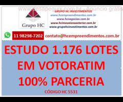 Estudo de 1.176 lotes residenciais 149 comerciais Em Votorantim SP