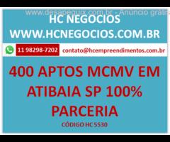 Projeto 400 apartamentos M.C.M.V em Atibaia SP 100% parceria, permuta
