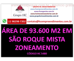 Área bem localizada e de fácil acesso, próximo ao Mosteiro de São Roque. Área de matrícula: 93.674m²