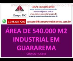 Área de 540.000m² em Jacareí/Guararema. Excelente localização para implantação de