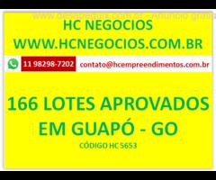 166 lotes aprovados - Cidade de Guapó-GO à partir 250m2- Sem infra