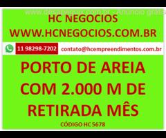 Porto de areia com infraestrutura São 39,5 hectares de terra