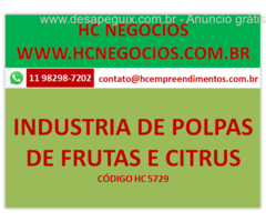 VENDA DE INDUSTRIA DE POLPAS DE FRUTAS E CITRUS