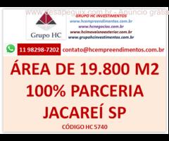 Área 19.790 m2 em Jacareí aceita parceria 100% em Jacareí SP