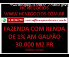 Imóvel com Renda de 1% am Fazenda Rio Grande no Paraná com 30.454 m2