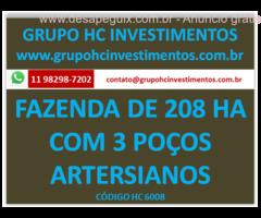 FAZENDA DE 208 HA ACEITA PROPOSTA DE SOCIEDADE OU VENDA MG