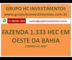 FAZENDA 1.330 HECTARES NO OESTE DA BAHIA