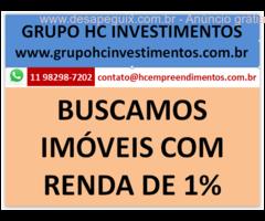 BUSCAMOS IMOVEIS COM RENDA PARA FUNDO DE INVESTIMENTOS