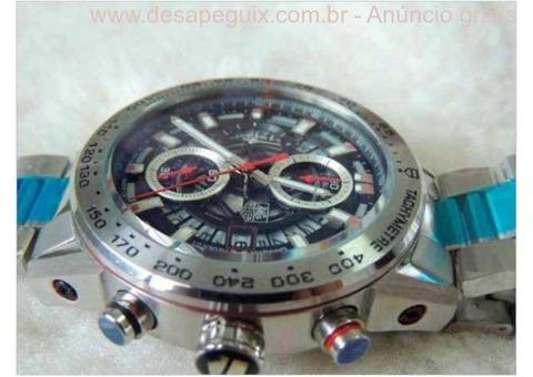 256b6a85a43 ... Relogio - Esportivo de Luxo - Caixa e pulseira em aço - TG He  Cronografo  ...